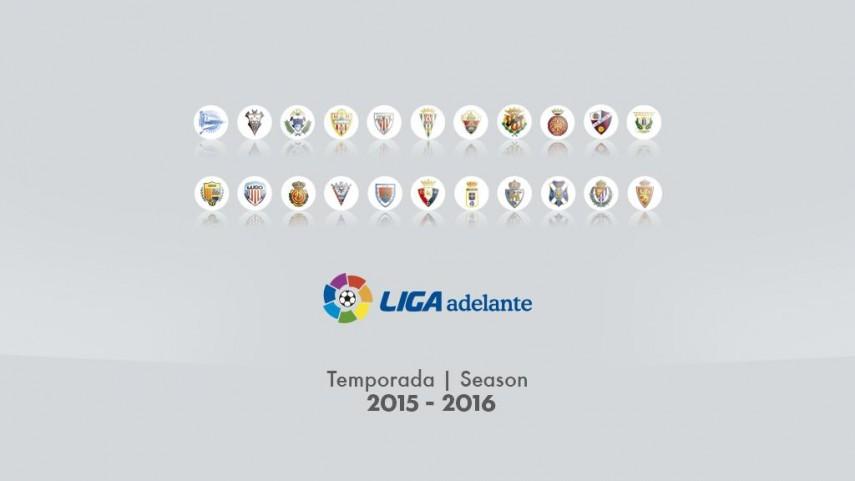 Dorsales oficiales de todos los equipos de la Liga Adelante 2015/16