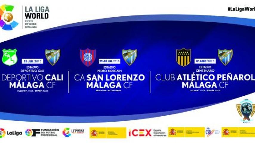El Málaga CF participará en la Gira LFP World Challenge