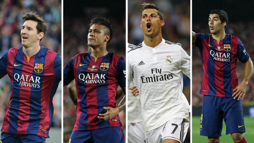 Messi, Cristiano Ronaldo, Neymar y Luis Suárez, candidatos a Mejor Jugador UEFA 2014/15