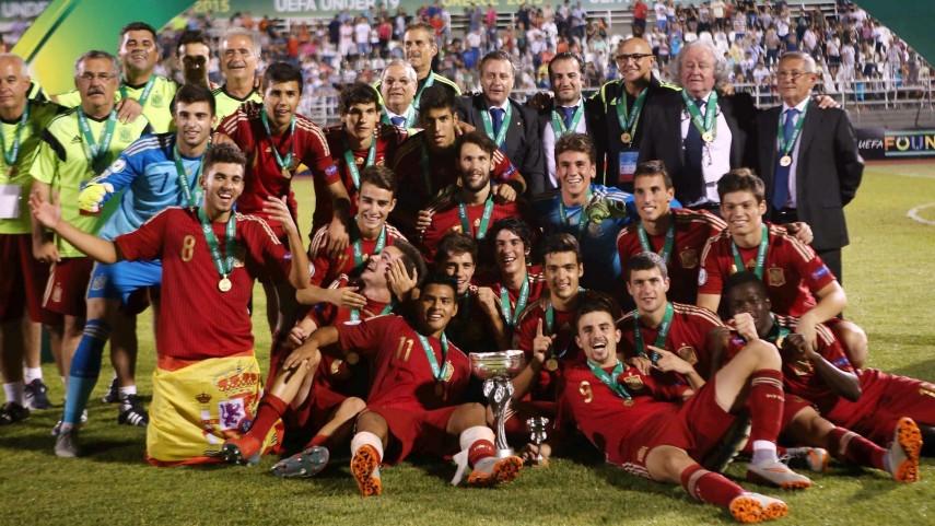 La selección española sub-19, campeona del Europeo