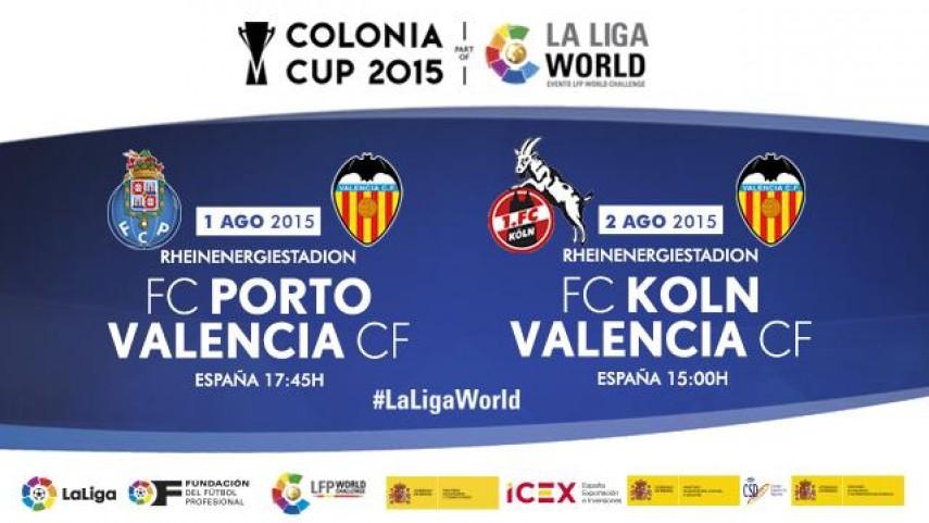 El Valencia CF participará en la Colonia Cup dentro de la Gira LFP World Challenge