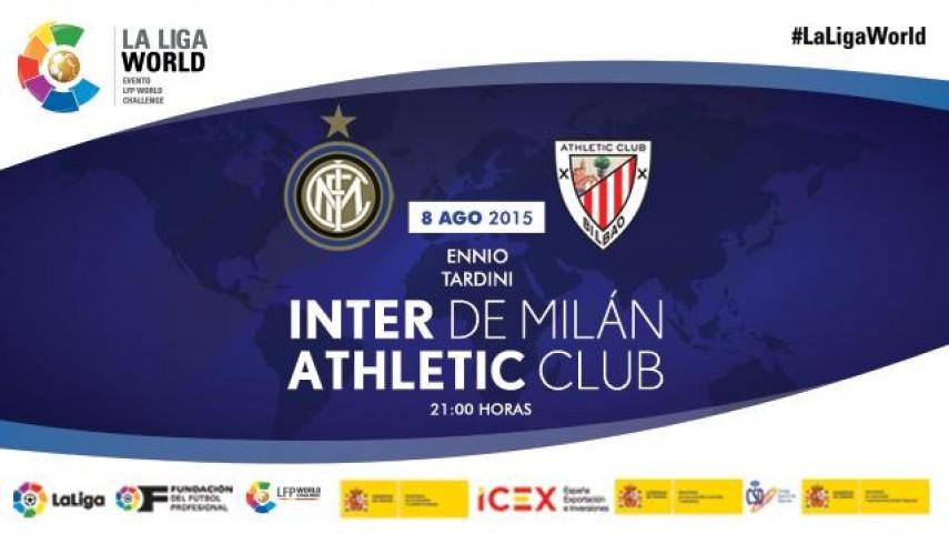 Athletic Club e Inter de Milán se citan en Italia en el marco de la Gira LFP World Challenge