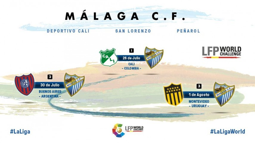 Así será la Gira LFP World Challenge del Málaga CF
