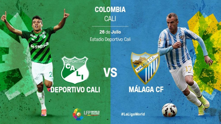 El Málaga se mide al campeón de Colombia