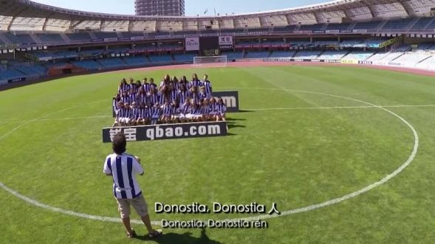 La Real Sociedad se prepara para la Gira LFP World Challenge cantando su himno en chino