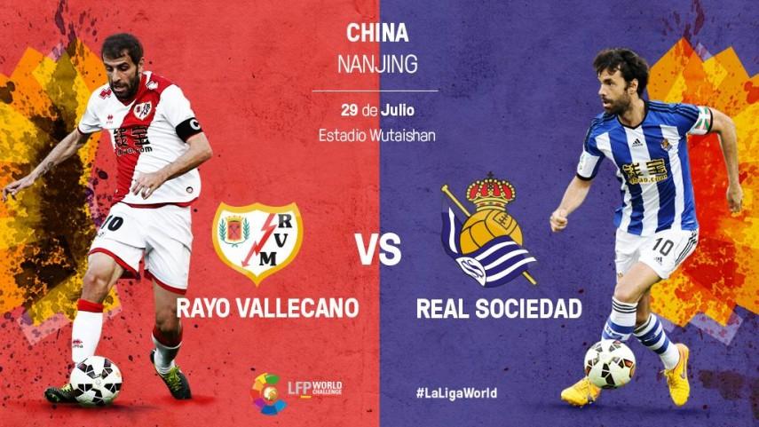 Rayo Vallecano y Real Sociedad se citan en Nanjing