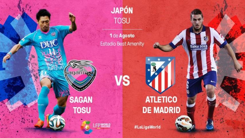 El Atlético de Madrid, listo para la gran cita frente al Sagan Tosu