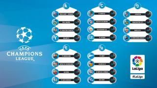 Los cinco equipos de LaLiga ya conocen a sus rivales de la Fase de Grupos