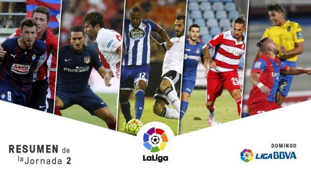 Valiosas victorias de Atlético, Eibar y Granada