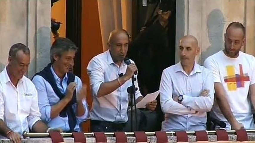 Abelardo, pregonero en las fiestas de Gijón