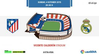 Vicente Calderon is decked out for the derby