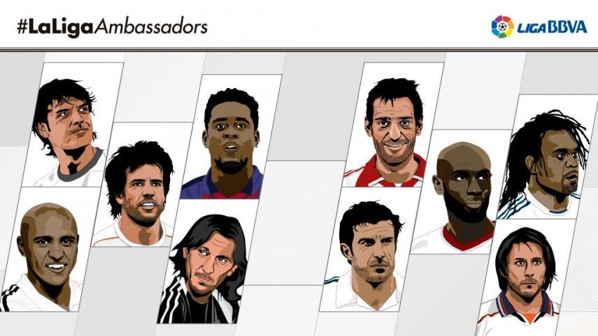 Estos son los diez rostros de #LaLigaAmbassadors