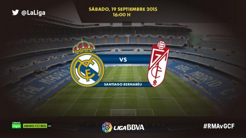 El Granada, dispuesto a frenar la racha goleadora del Real Madrid