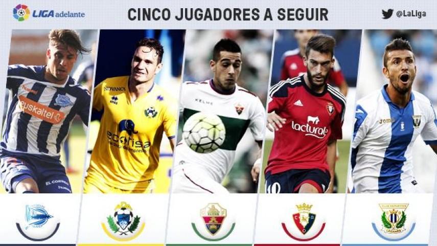 Cinco jugadores a seguir en la jornada 5 de la Liga Adelante