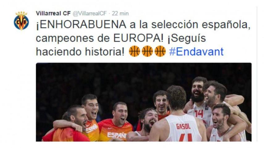 Así felicitó #LaLiga a la Selección Española de Baloncesto por su conquista del Eurobasket