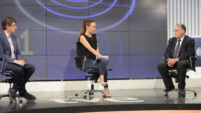 Javier Tebas y Míchel Salgado, protagonistas del programa Estadio 1