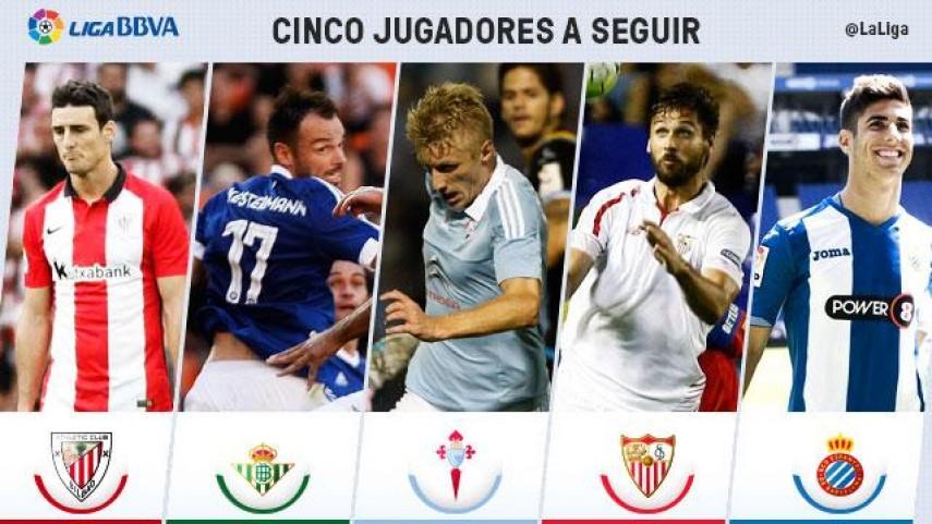 Cinco jugadores a seguir en la jornada 5 de Liga BBVA