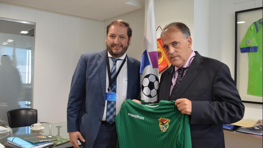 LaLiga colaborará con todos los estamentos del fútbol de Bolivia