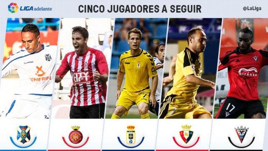 Cinco jugadores a seguir en la jornada 6 de la Liga Adelante