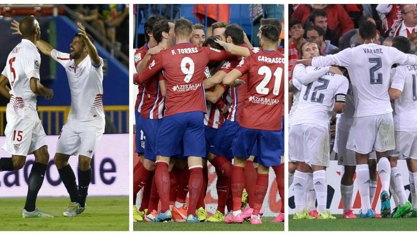 Segundo examen de Champions para Sevilla, Atlético y Real Madrid