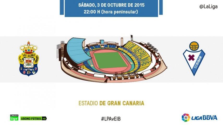 Las Palmas – Eibar, duelo inédito en la Liga BBVA