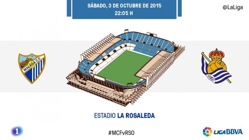 Málaga y Real Sociedad invocan al gol