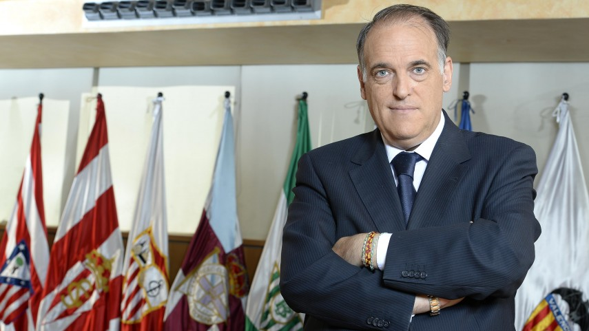Javier Tebas, finalista de los premios 'Tv Sports Awards'