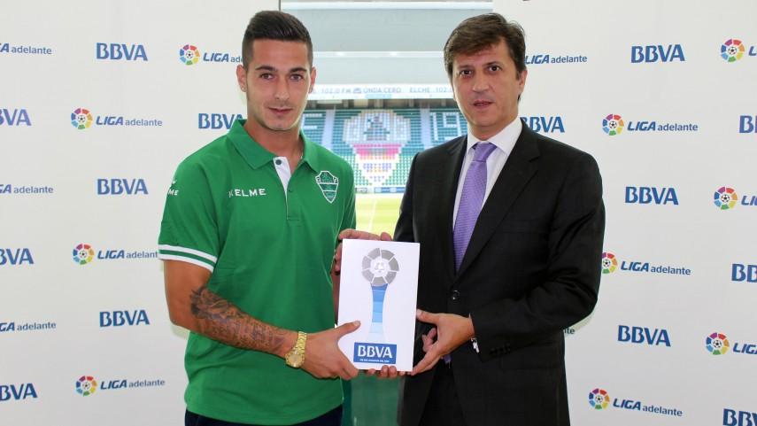 Sergio León, mejor jugador de la Liga Adelante en septiembre