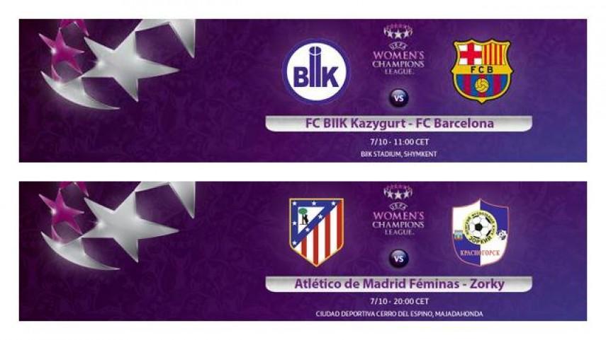 Barcelona y Atlético de Madrid inician su camino en la Champions femenina