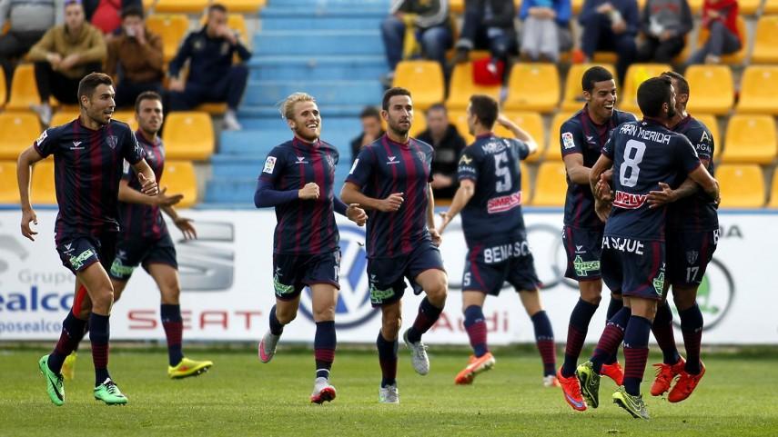 La SD Huesca, el mejor visitante de la Liga Adelante