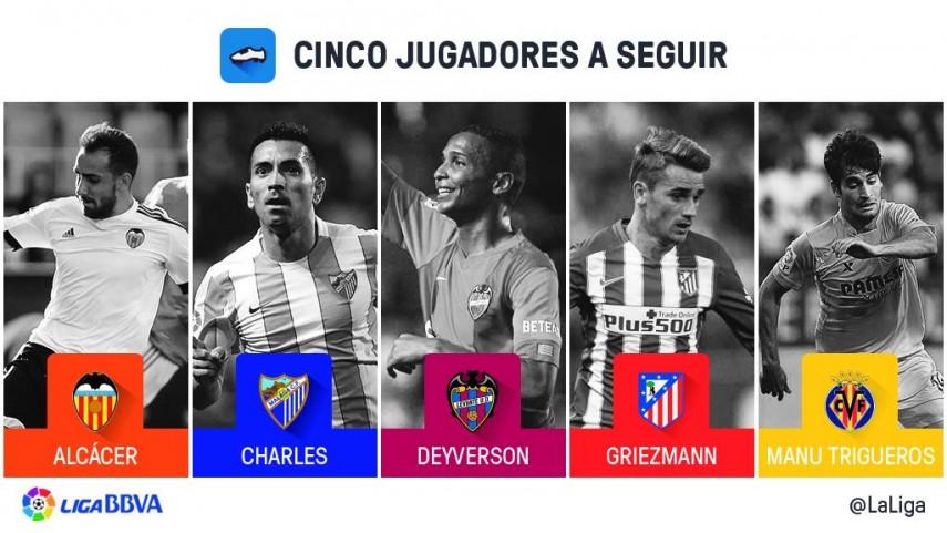 Cinco jugadores a seguir en la jornada 8 de Liga BBVA