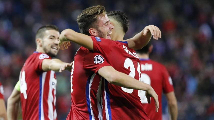 El Atlético golea, el Real Madrid suma un empate y el Sevilla cae en Champions League