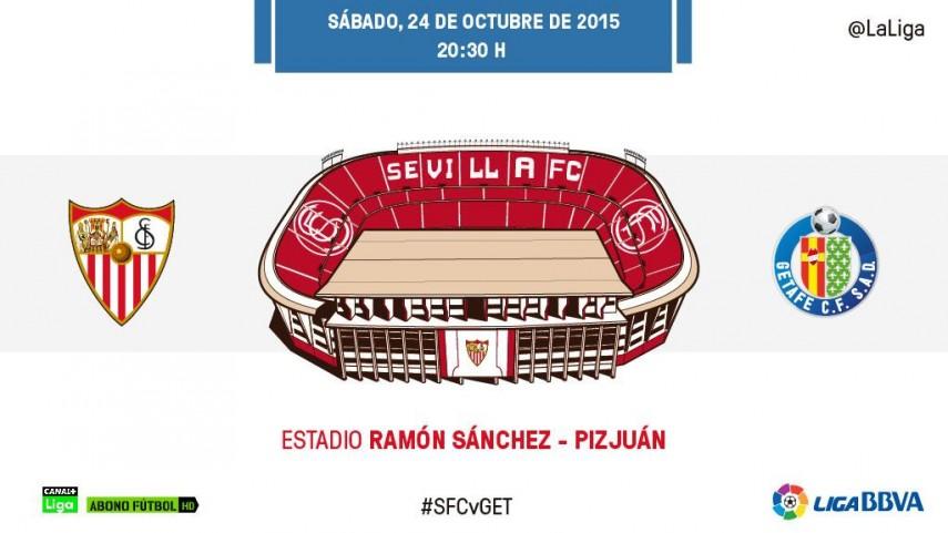 Un lanzado Sevilla mide a un Getafe goleador