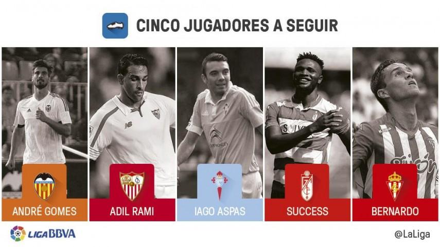 Cinco jugadores a seguir en la jornada 9 de Liga BBVA