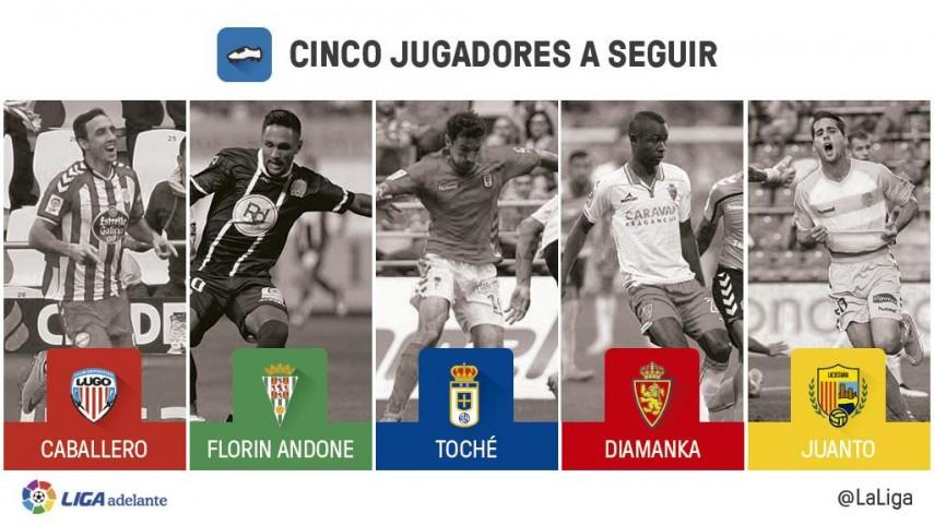Cinco jugadores a seguir en la jornada 10 de la Liga Adelante