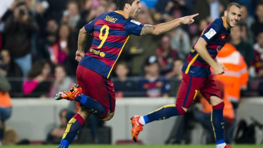 Un inspirado Luis Suárez da la victoria al Barcelona