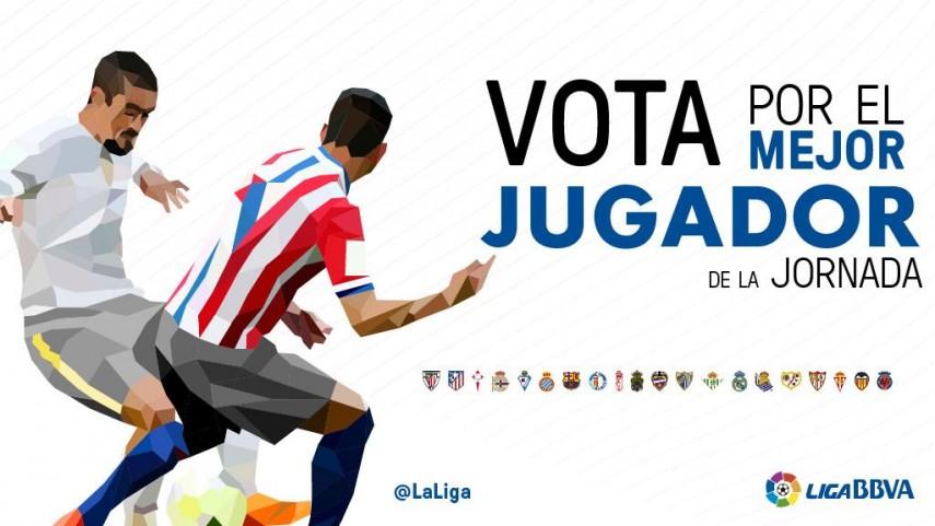 ¿Quién fue el mejor jugador de la jornada 21 en la Liga BBVA?