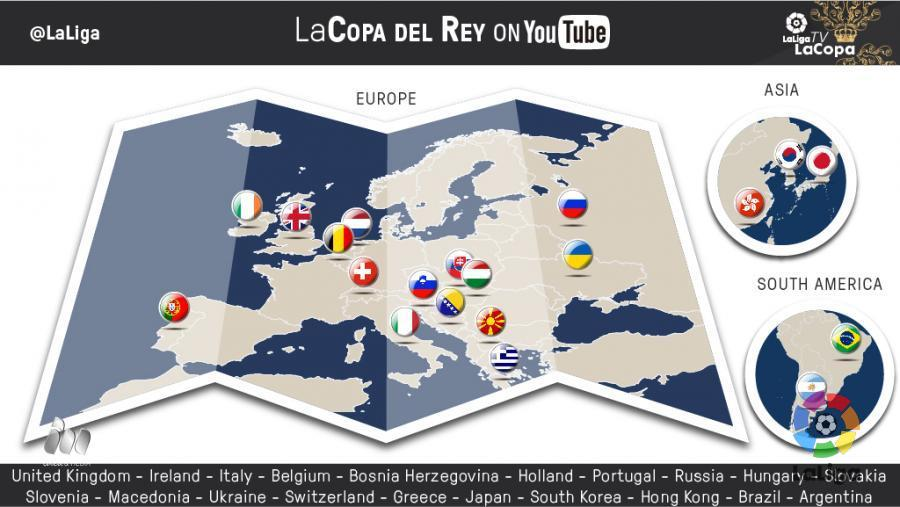 Youtube Map Of Ireland.Laliga And Mediapro Reach An Agreement To Broadcast Copa Del Rey