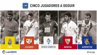 Cinco jugadores a seguir en la jornada 13 de la Liga BBVA