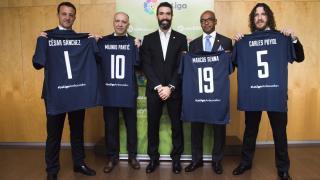 Carles Puyol, César, Pantic y Marcos Senna, nuevos embajadores de la Liga BBVA