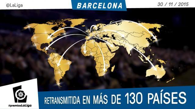 La Gala de los #PremiosLaLiga se emitirá en más de 130 países
