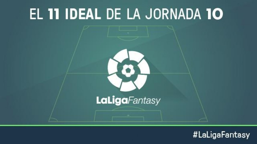 El once ideal de LaLiga Fantasy en la jornada 10