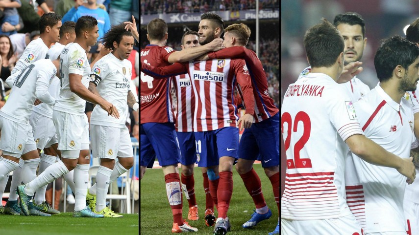 Real Madrid, Atlético de Madrid y Sevilla buscan tres puntos decisivos en Champions
