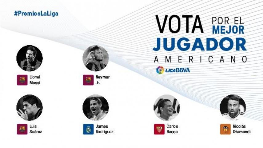 Elige al mejor jugador americano de la Liga BBVA 2014/15