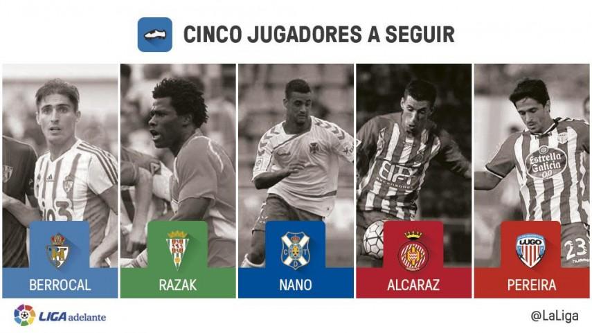 Cinco jugadores a seguir en la jornada 12 de la Liga Adelante