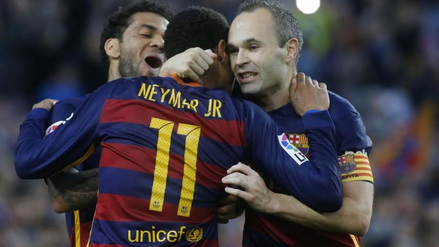 Neymar y Luis Suárez siguen liderando al Barcelona