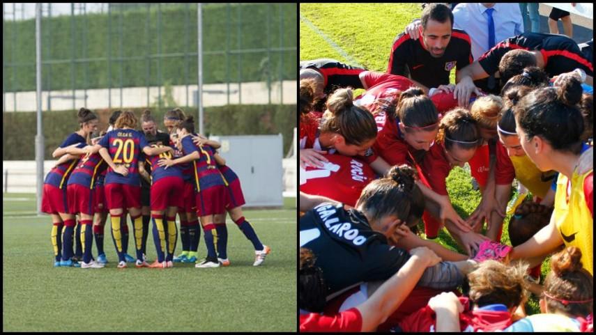 Atleti y FC Barcelona afrontan el partido de ida de octavos de final de la Champions Femenina