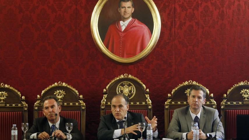 Javier Tebas apuesta por la industria del fútbol frente a la burocracia federativa