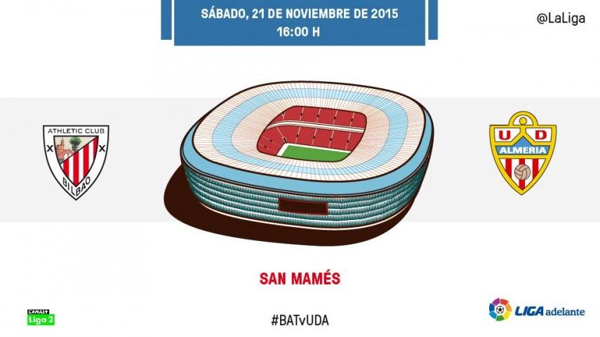 Bilbao Athletic y UD Almería, cita para la esperanza en San Mamés
