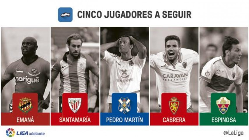 Cinco jugadores a seguir en la jornada 13 de la Liga Adelante